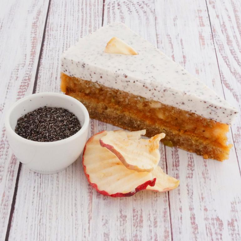 Almás-mákos torta szelet